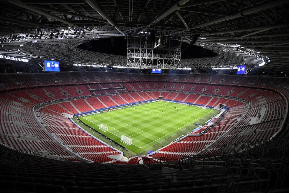 Budapest, Puskas Arena: 61.000 zugelassene Zuschauer; drei Gruppenspiele, ein Achtelfinale.