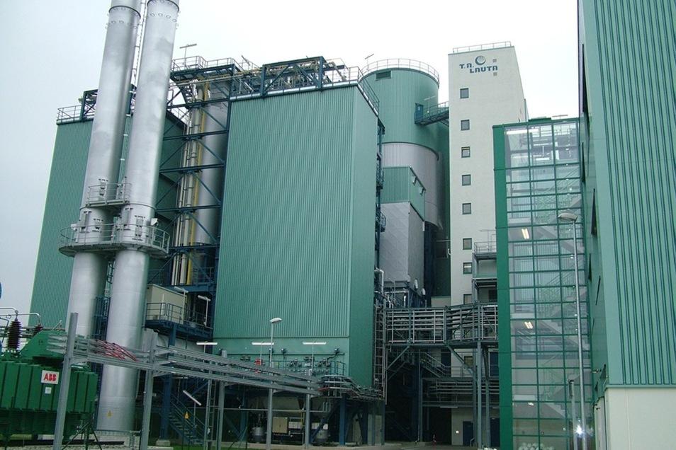 Einweihung der Thermischen Abfallbehandlungsanlage (TA) in Lauta im November 2004.