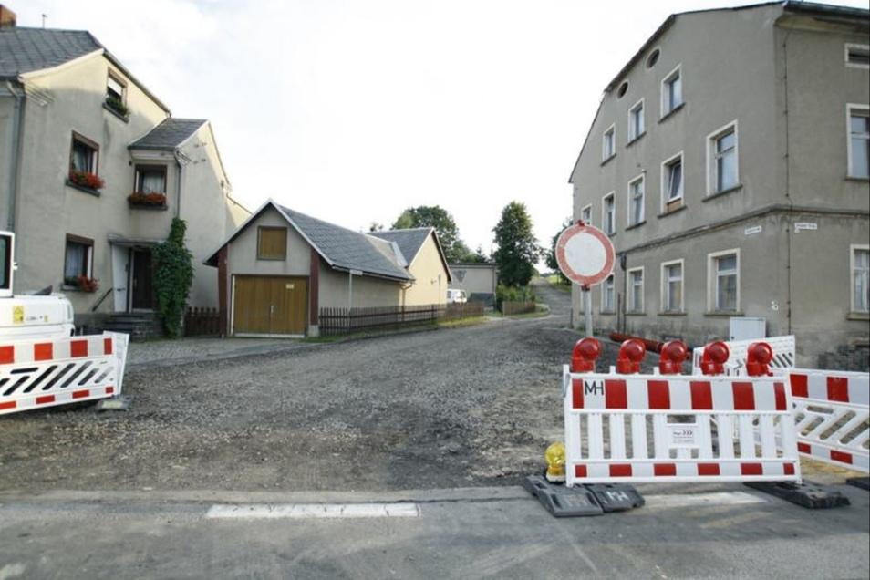 Die Siedlerstraße in Ringenhain ist die größte Problemstraße im Ort.