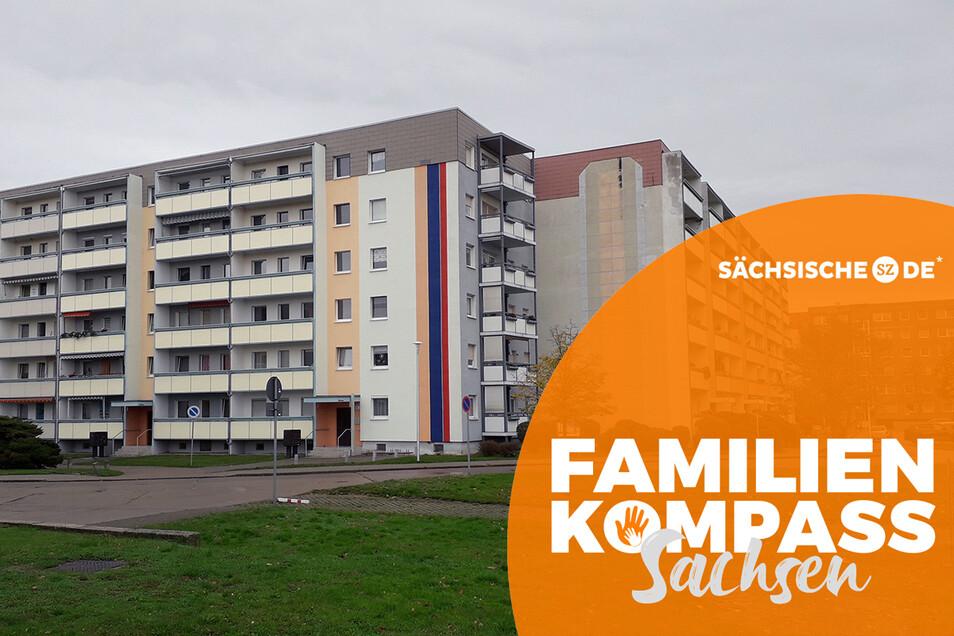 Auch die Wohnblöcke in Gröditz sind nicht mehr so grau wie vor 20 Jahren.