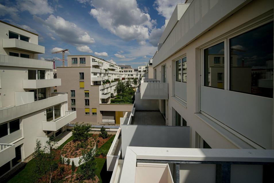 An der Wallstraße und am Postplatz sind dieses Jahr und im Vorjahr neugebaute Wohnungen fertig geworden.