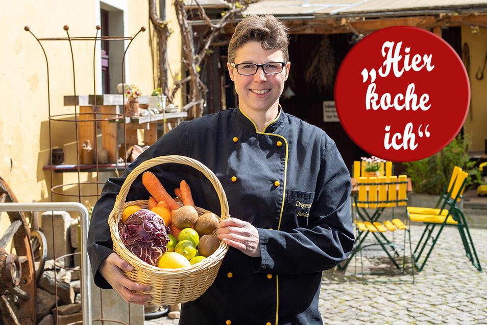 Gemüsekorb statt Kochtopf: Gern würde Anne Pätzold aus dem Gemüse wieder was für die Gäste kochen.