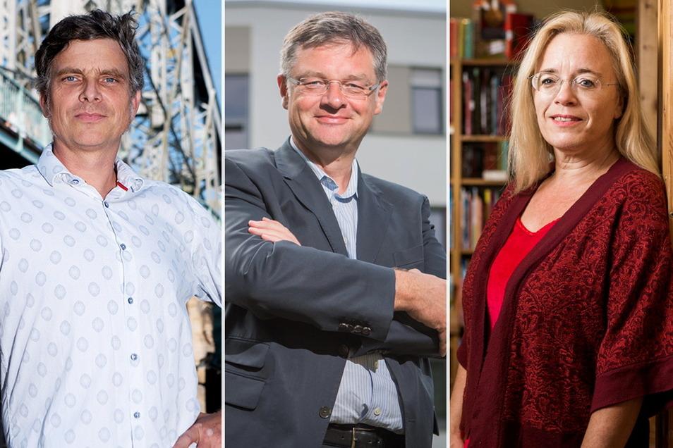 Thomas Löser (Grüne), Holger Zastrow (FDP) und Susanne Dagen (Freie Wähler) sind die aktuellen Opfer von Attacken gegen Dresdner Stadträte.