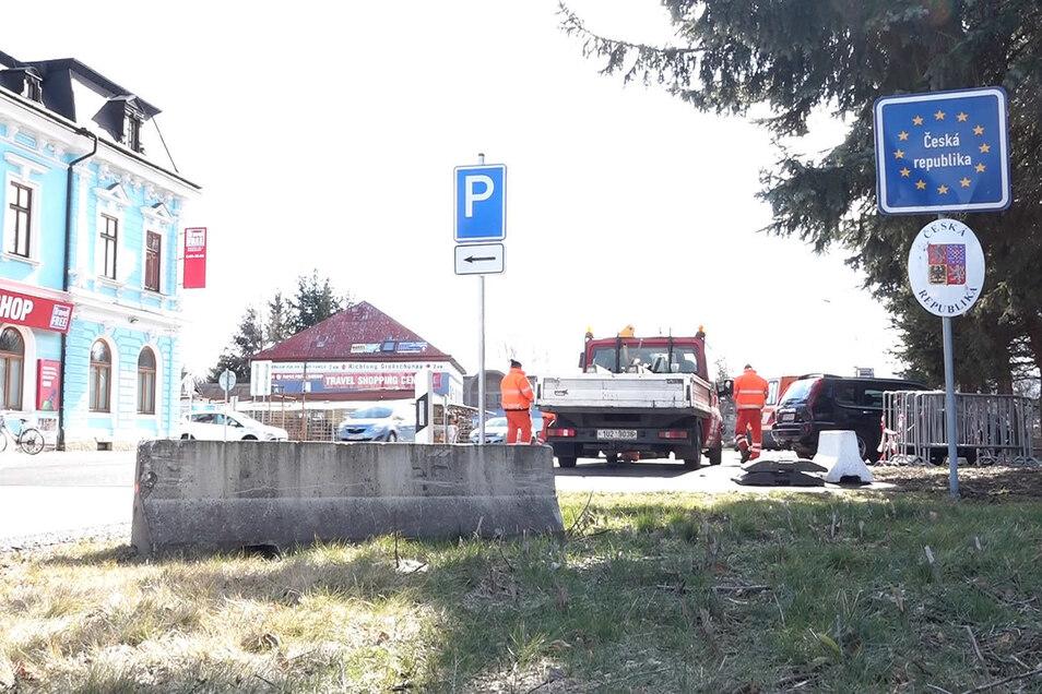 Am Grenzübergang Varnsdorf haben die Vorbereitungen begonnen.