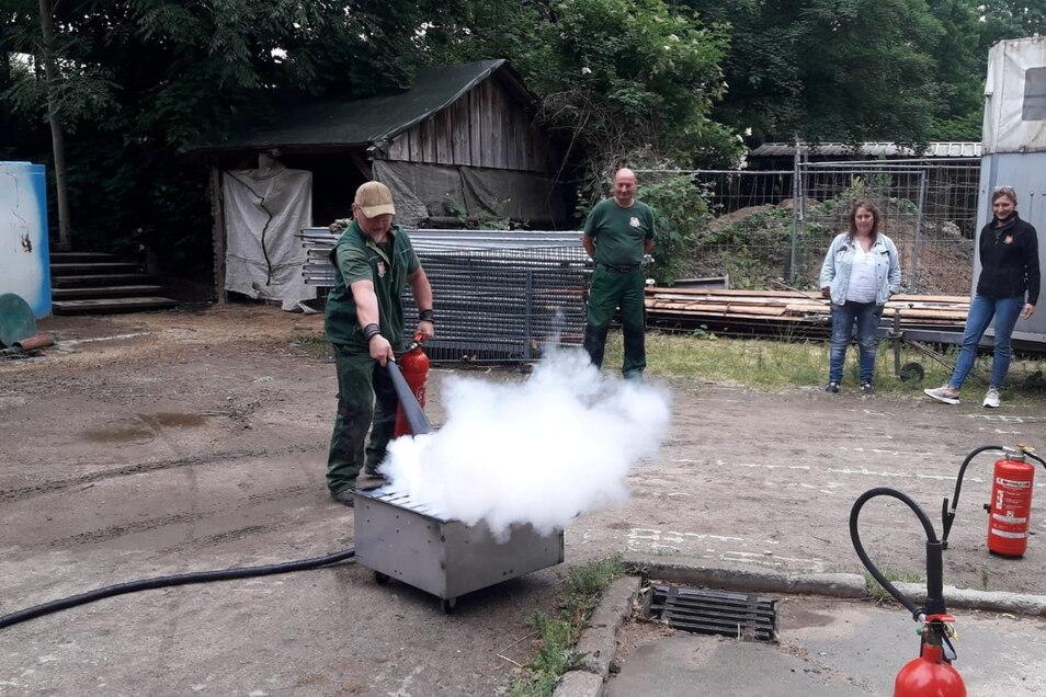 Feuer im Görlitzer Zoo? Nein, zum Glück nur eine Brandschutzübung