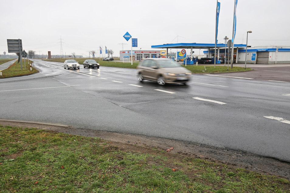 An der B 169 nahe der Zeithainer Aral-Tankstelle gibt es bald Sperrungen.