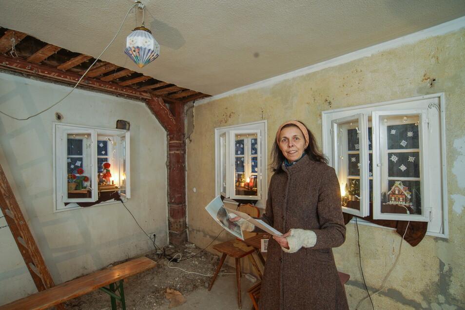 Die neue Mieterin von Bautzens ältestem Haus, Gerlind Alius, will das Gebäude wieder altertümlich herrichten - und darin ein Museum einrichten.