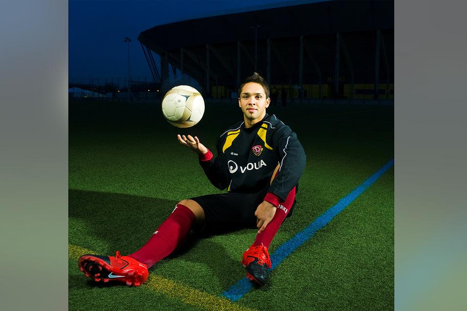 Dieses Foto entstand im November 2009. Damals hoffte Tony Mamodaly, bei Dynamo Dresden den Sprung als Profi-Fußballer zu schaffen. Doch daraus wurde nichts.