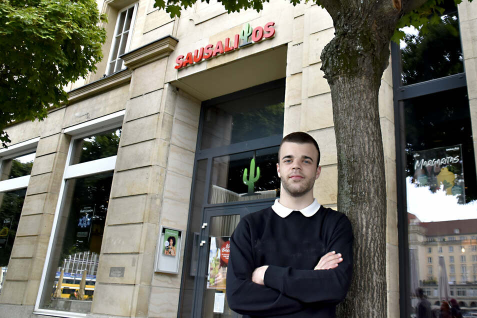 Adrian Barunovic führt das neue mexikanische Restauant Sausalitos am Dresdner Altmarkt.