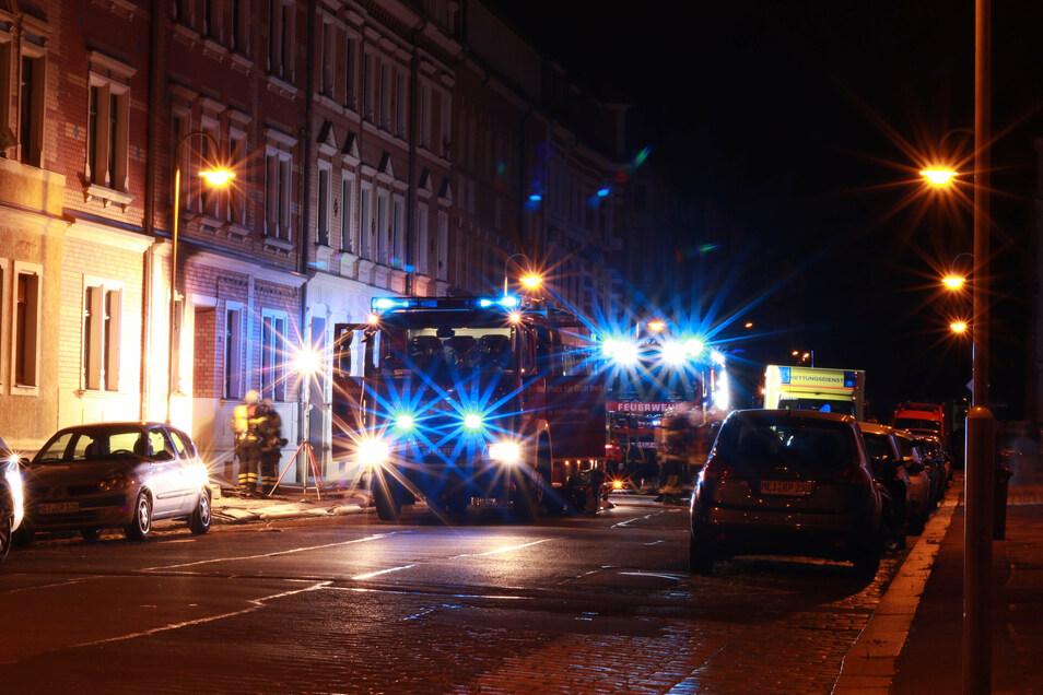 In der Nacht zum Freitag brannte es in der Meißner Gustav-Graf-Straße.