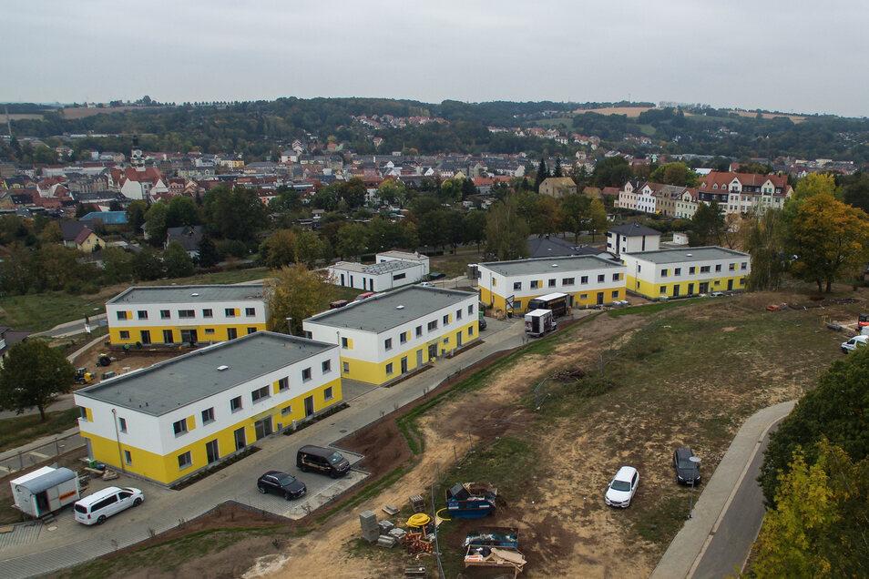 Im vergangenen Jahr sind diese Stadtvillen der WG Fortschritt in Döbeln Nord neu gebaut worden. Die Nachfrage nach neuen Wohnungen ist auch im gesamten Kreis Mittelsachsen groß. Trotzdem sind 2018 etwa 26 Prozent weniger Wohnungen entstanden.
