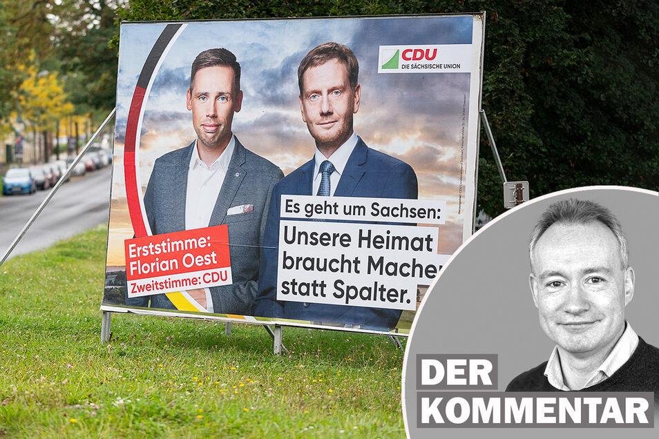 Florian Oest wirbt um die Erststimme im Kreis Görlitz.
