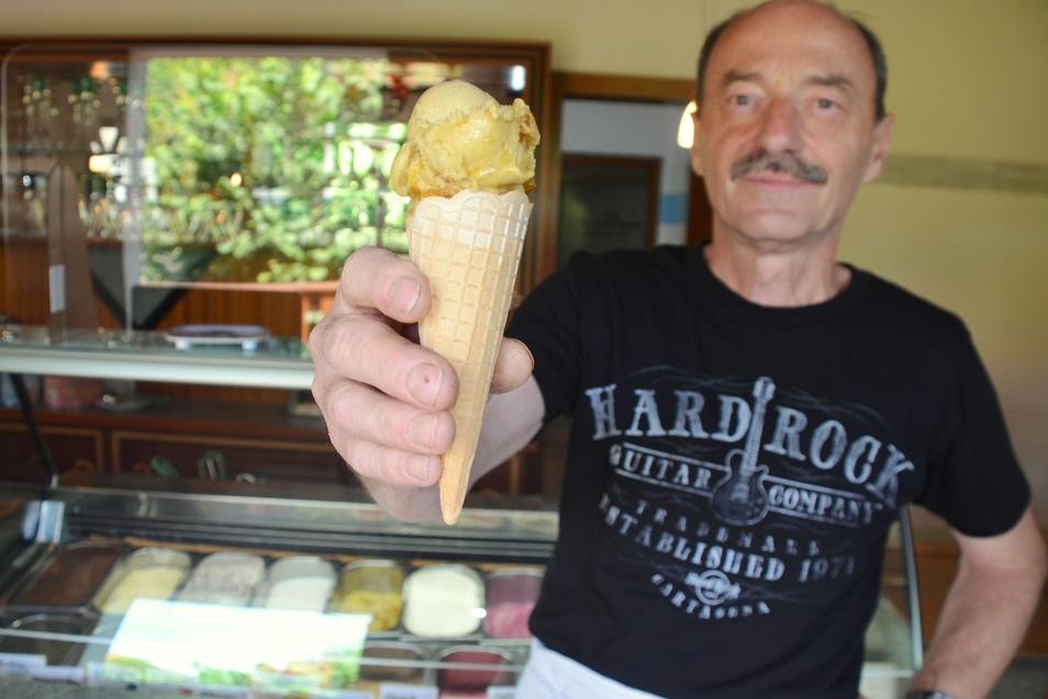 """Das """"Lulo""""-Eis wirkt rein optisch betrachtet eher unscheinbar, hat es aber vom Geschmack her in sich. Die unverarbeitete Frucht enthält besonders viel Vitamin C."""