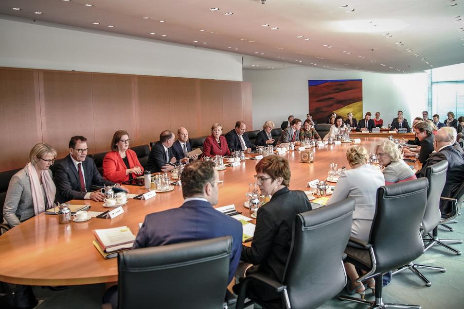 Das Bundeskabinett am Mittwoch im Kanzleramt.