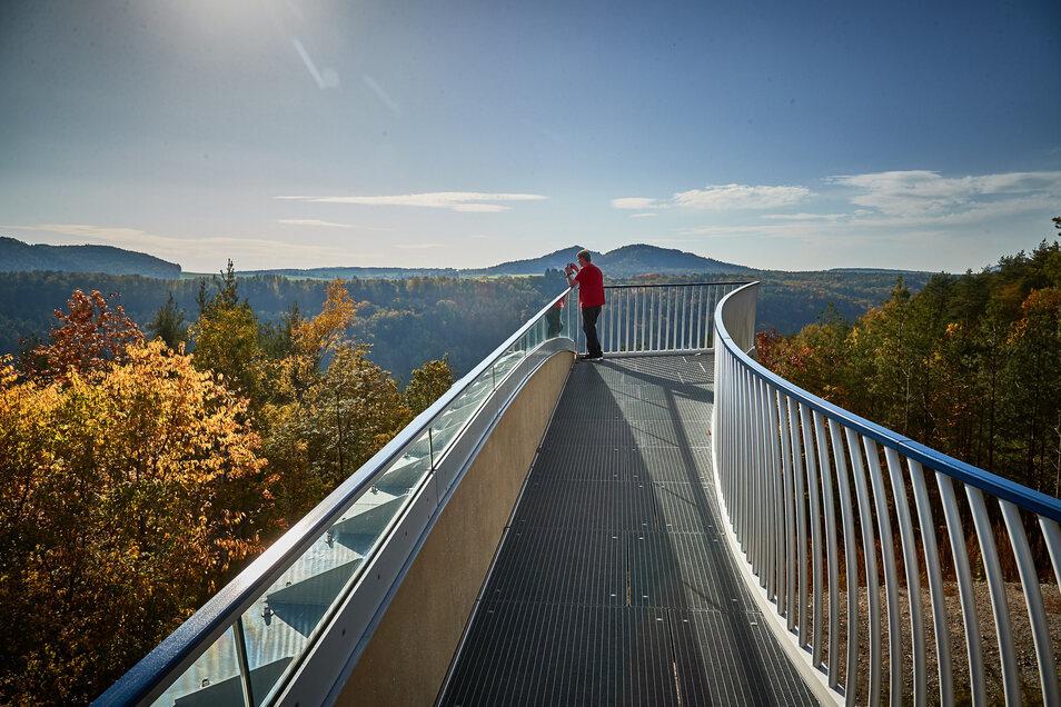 Skywalk über Bad Schandau: Stoff für weiteren Fernseh-Spott.