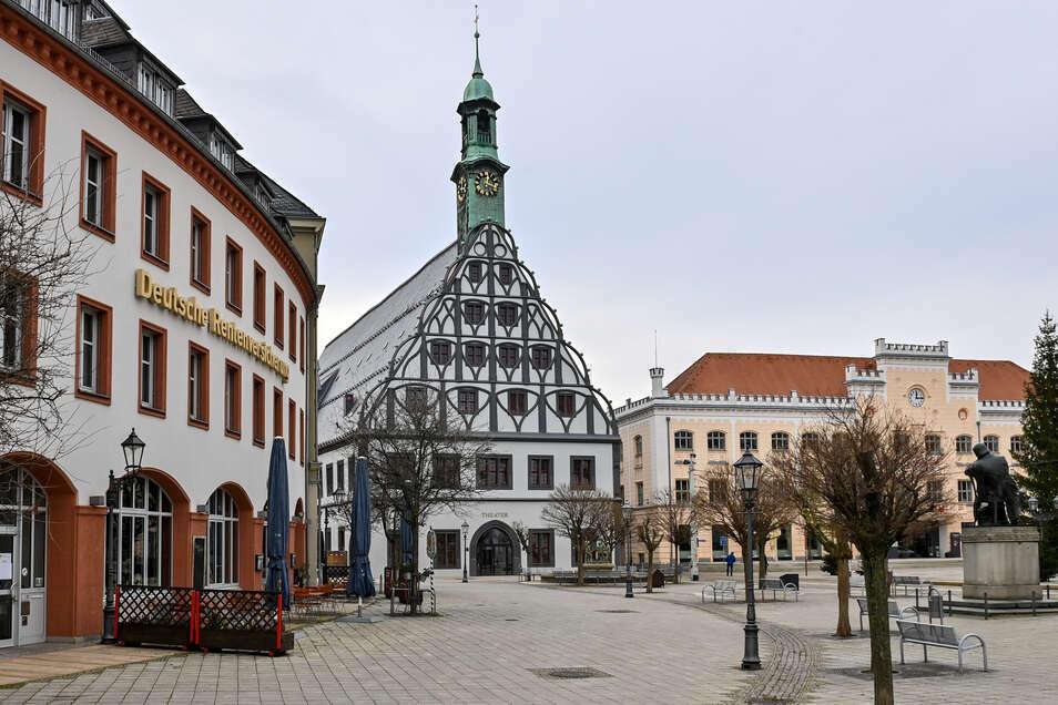 Blick in die Zwickauer Altstadt.