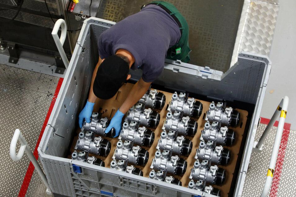 Nach dem Corona bedingten Stillstand im April lieferte TDDK im Juli wieder 470.000 Klimakompressoren für die Autoindustrie aus.