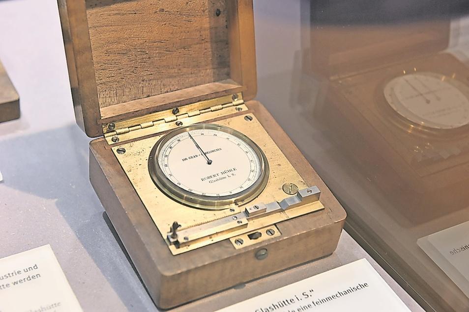 Messgerät für Durchmesser: Mit diesem um 1900 produzierten Messgerät können Durchmesser und Längen exakt bestimmt werden. (Fotos: Egbert Kamprath)