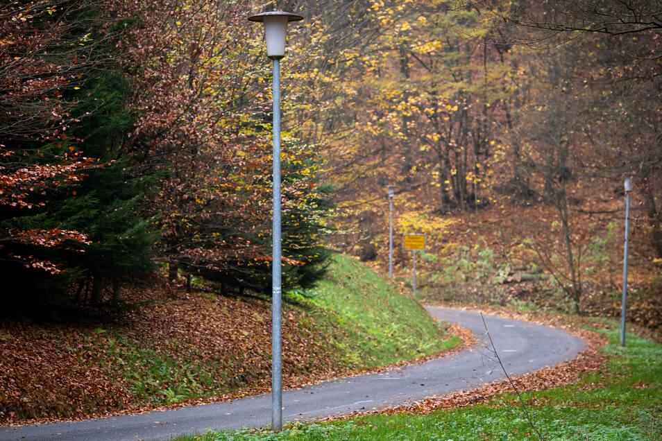Hier müssen die Goßdorfer entlang, wenn Sie zum Zug wollen. Im Dunkeln viel zu gefährlich.