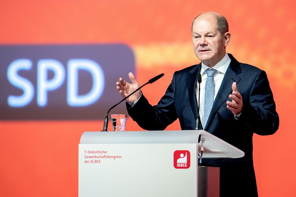 SPD-Kanzlerkandidat Olaf Scholz verspricht Tempo bei der Energiewende.