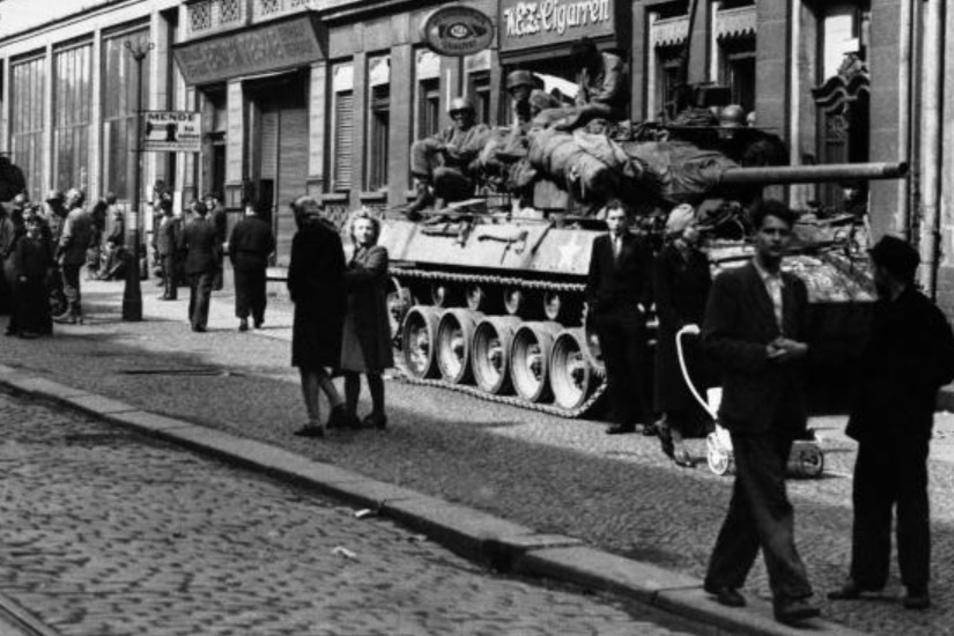 Westsachsen wurde oft kampflos besetzt. Doch an manchen Orten wie in Leipzig mussten die Amerikaner erst zähen Widerstand überwinden, bevor sie in der Stadt einnehmen konnten.