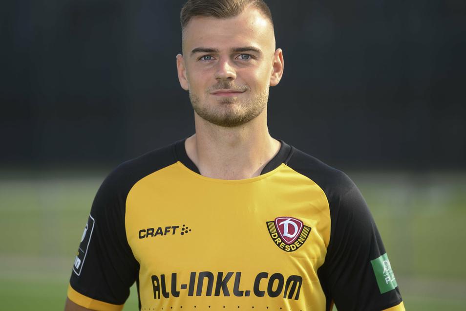 Max Kulke wird nach seiner Roten Karte für ein Spiel gesperrt und fehlt Dynamo gegen Meppen.