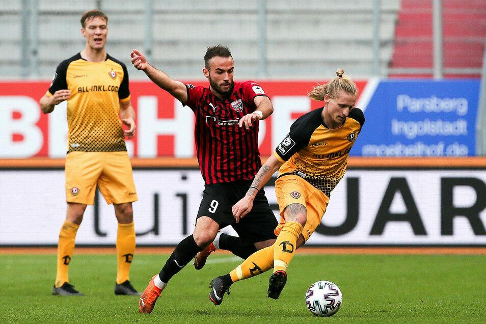 Nach der Niederlagen gegen den FSV Zwickau war Dynamo gegen Ingolstadt unter Zugzwang. Am Ende verlieren die Schwarz-Gelben 0:1. Daran konnte auch Marvin Stefaniak nichts ändern.