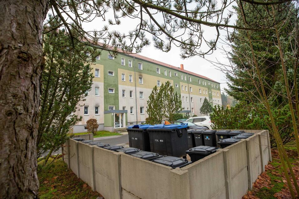 Solche Mülltonnenplätze wie im Wohngebiet Knöchel in Sebnitz sollten gut vor Waschbären gesichert werden.
