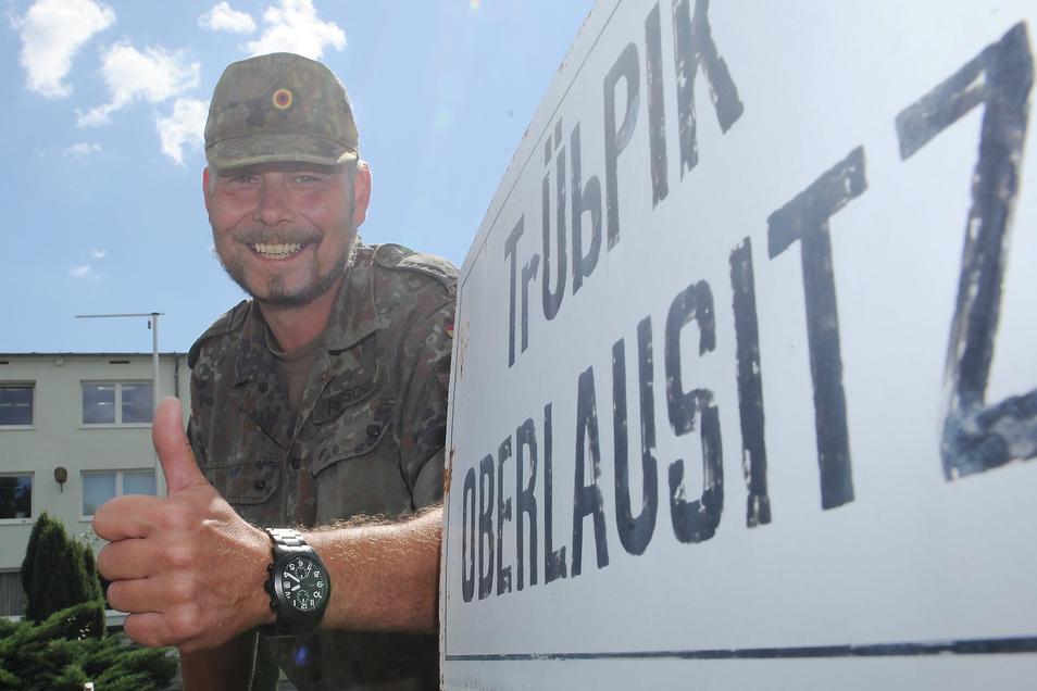 Oberstleutnant René Pierschel ist Kommandant des Truppenübungsplatzes Oberlausitz.