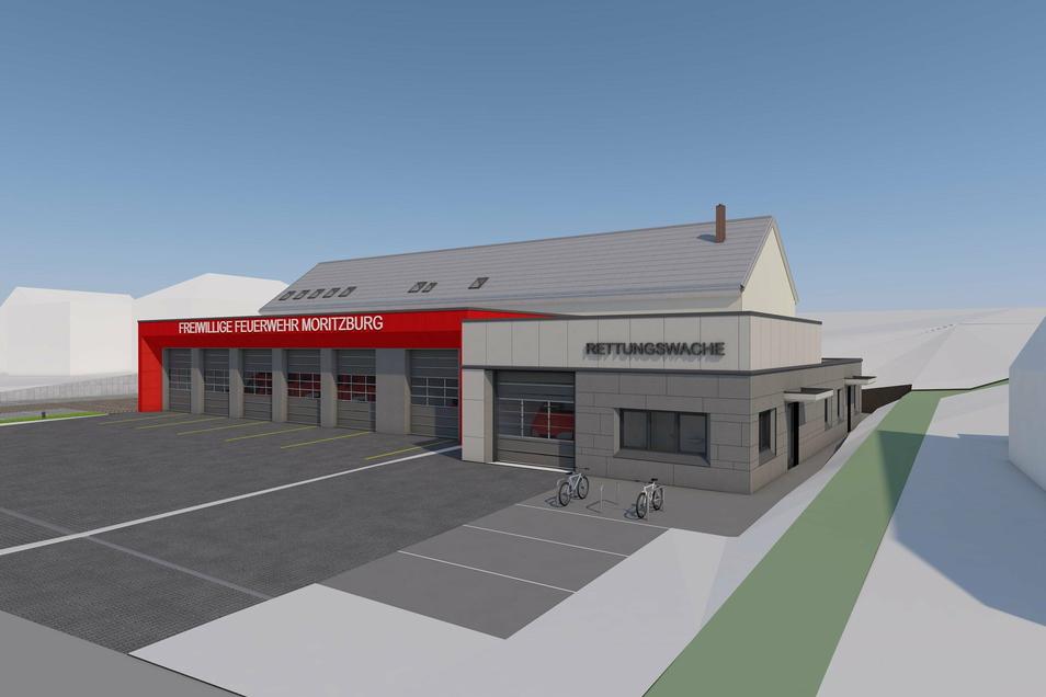Für den Bau des neuen Feuerwehrgerätehauses in Moritzburg soll auch ein Kredit aufgenommen werden.