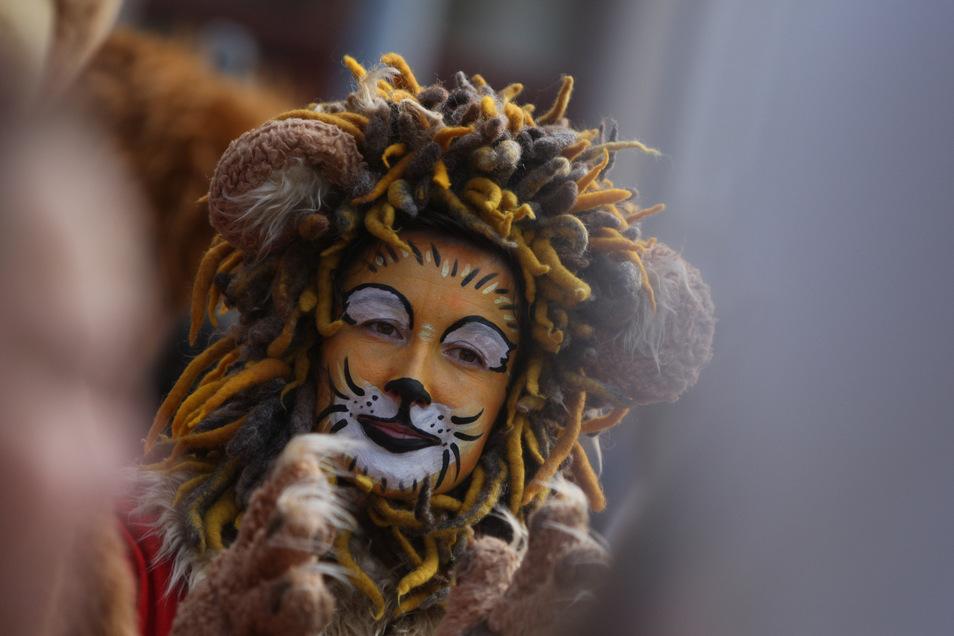 Maskottchen Parade auf dem Markt