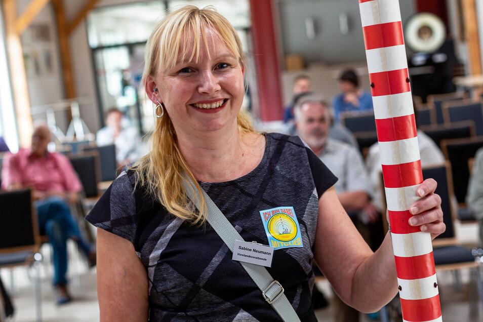 Sabine Neumann ist optimistisch, dass sie den für dieses Jahr geplanten Abriss der Wilsdruffer Riesenantenne verhindern kann.