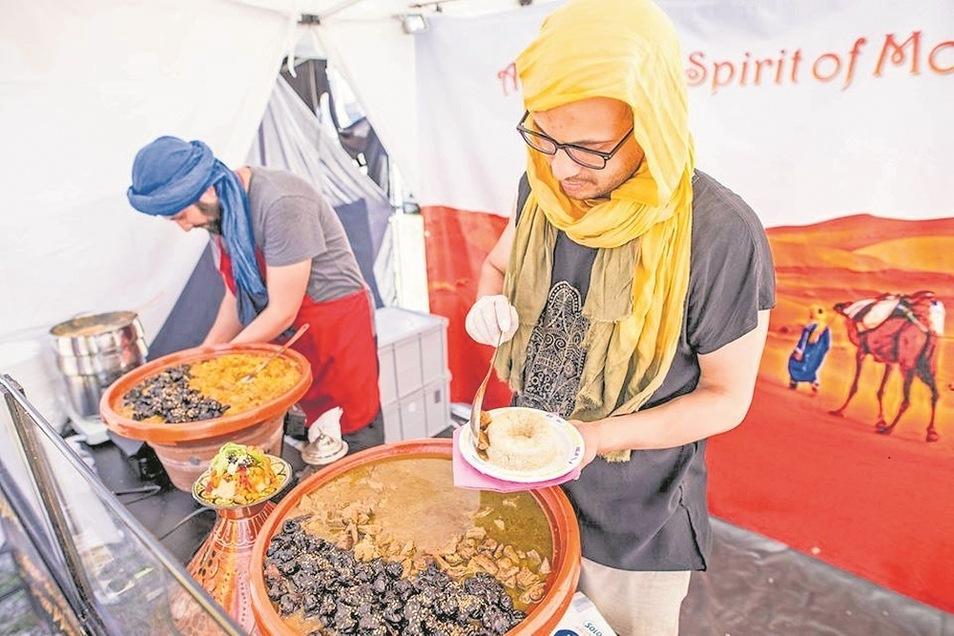 Beim Street-Food-Festival gibt es auch marokkanische Küche.