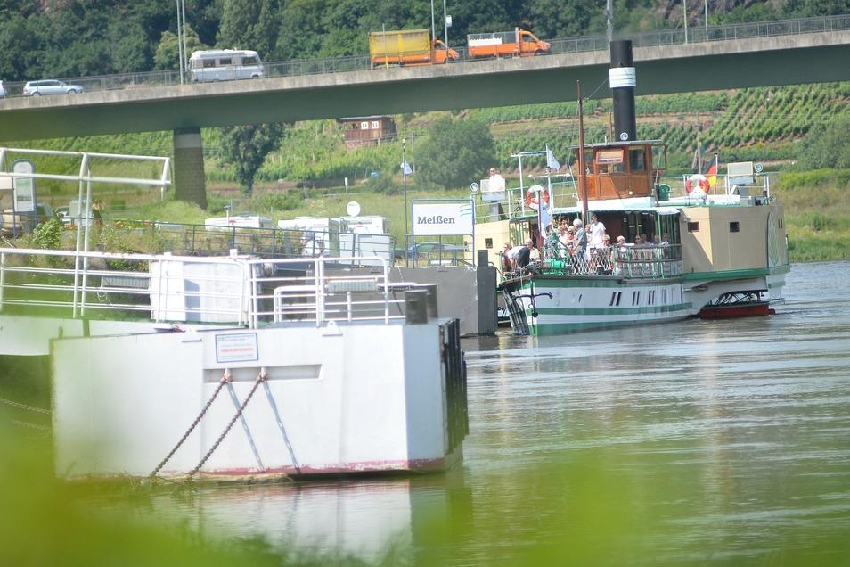 Dampfer der Sächsischen Dampfschifffahrt auf der Elbe