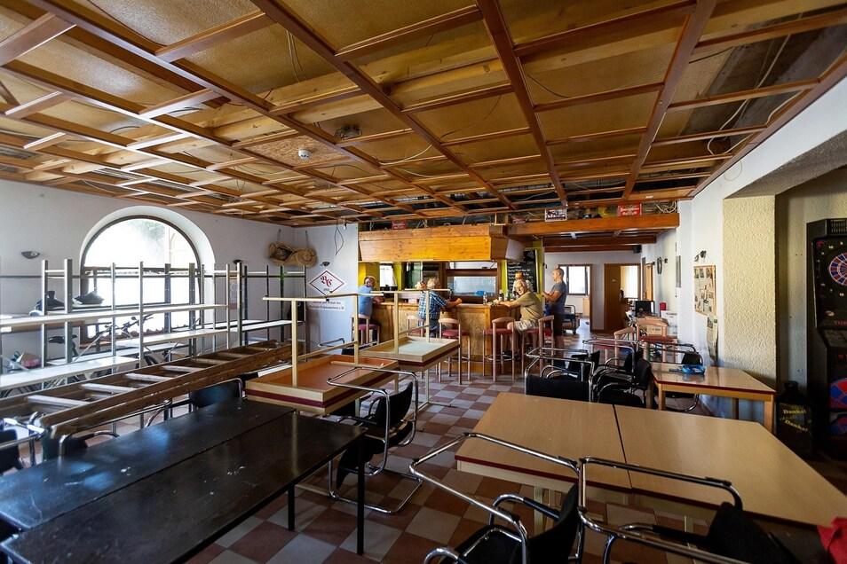 Die Gaststätte im vorderen Teil des Gebäudes war zuletzt der Dreh- und Angelpunkt des BC-Vereins.