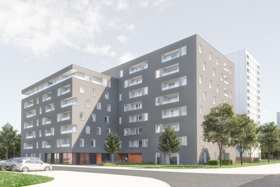 An der Bundschuhstraße baut die WiD ab Juli 79 neue Wohnungen, 62 von ihnen werden als Sozialwohnungen vermietet. Derzeit wird auf dem Areal eine alte Kita abgerissen.