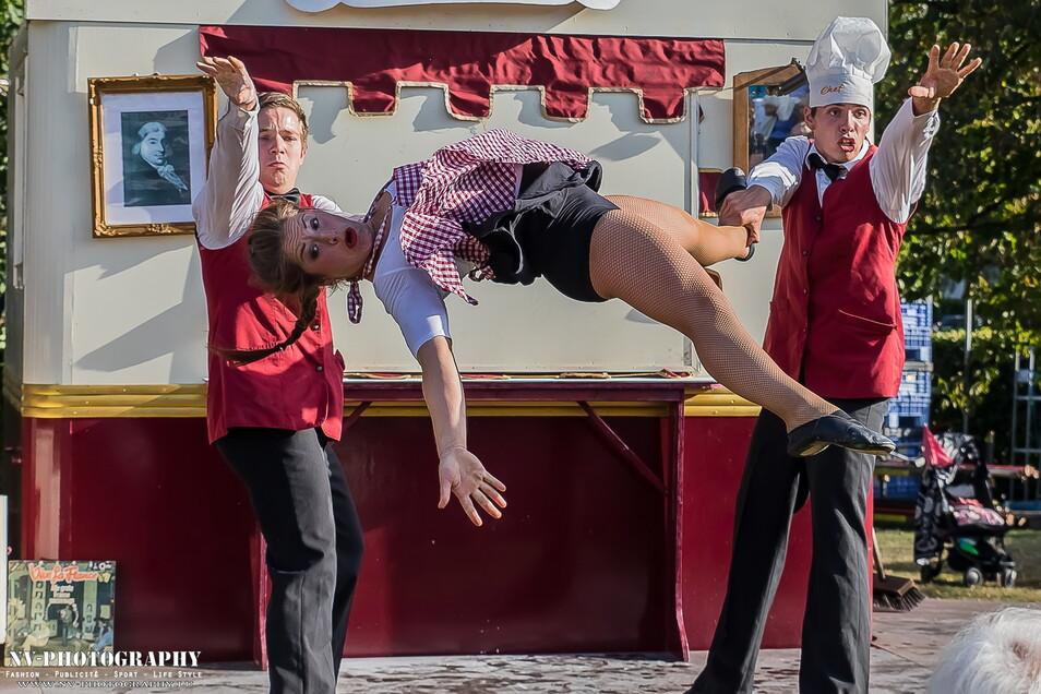 Die Gruppe Hirondelles aus den Niederlanden konnte dank der SZ-Spendenaktion 2019 zum Straßentheaterfestival Viathea nach Görlitz kommen.