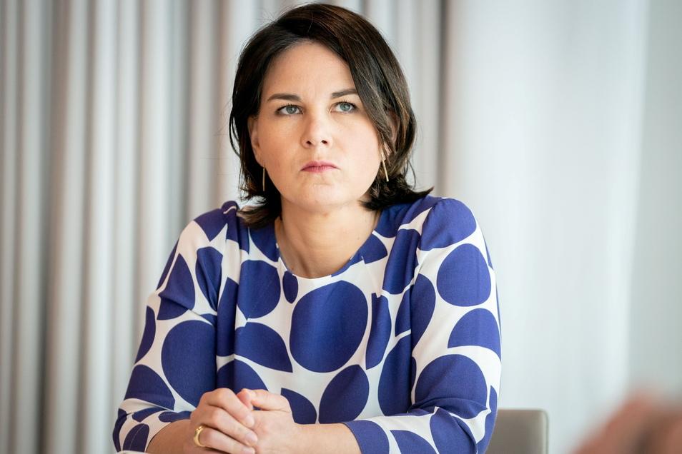 """""""Das war Mist:"""" Grünen-Chefin Annalena Baerbock entschuldigte sich für die irreführenden Angaben im eigenen Lebenslauf."""