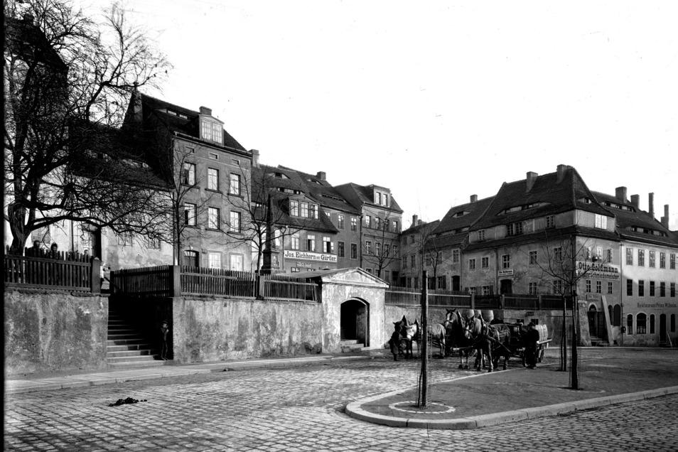 und hier eine Ansicht vom Töpferberg (Postplatz) um 1900 auf der östlichen Seite der Görlitzer Neiße.