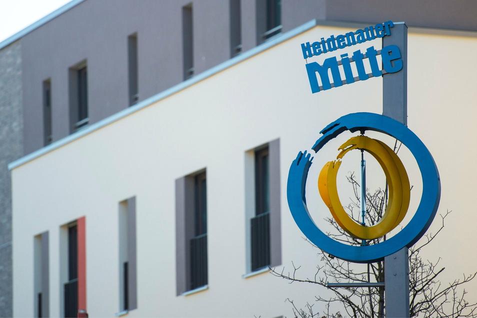 """Heidenaus Mitte: Mit diesen Stelen und dem Einkaufszentrum """"Stadtmitte"""" fing alles an."""