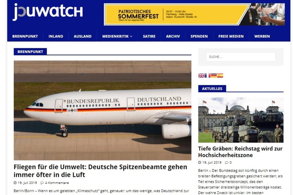 Das Internet-Portal Journalistenwatch hatte sich zu einem der wichtigsten Medienorgane der Neuen Rechten entwickelt.