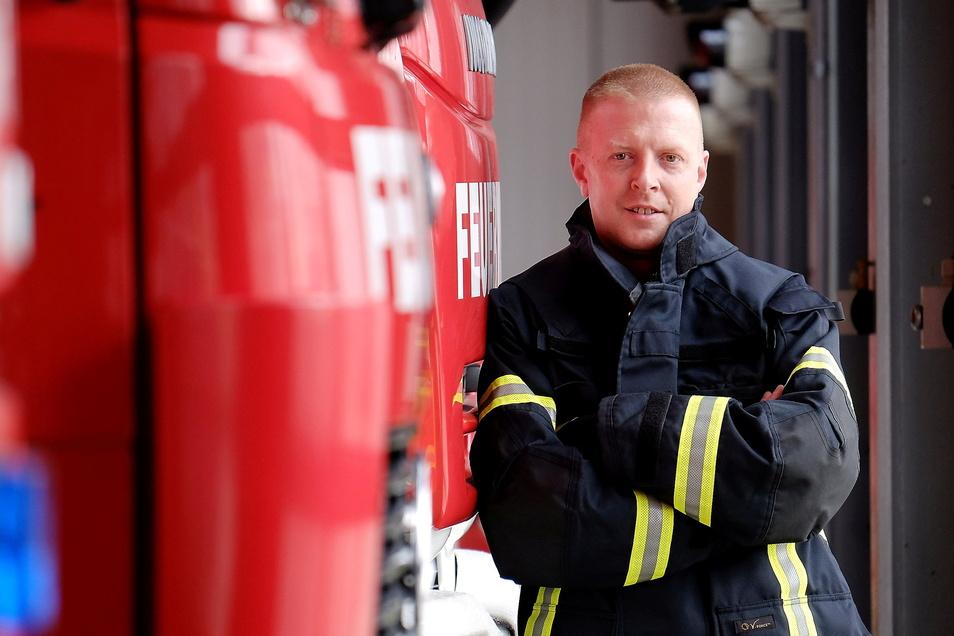 Seit 2012 ist Frank Fischer Chef der Freiwilligen Feuerwehr in Meißen.