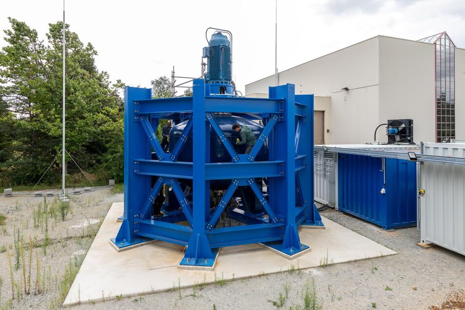 In Boxdorf in der Oberlausitz haben die Forscher den neuen Speicher aufgebaut.