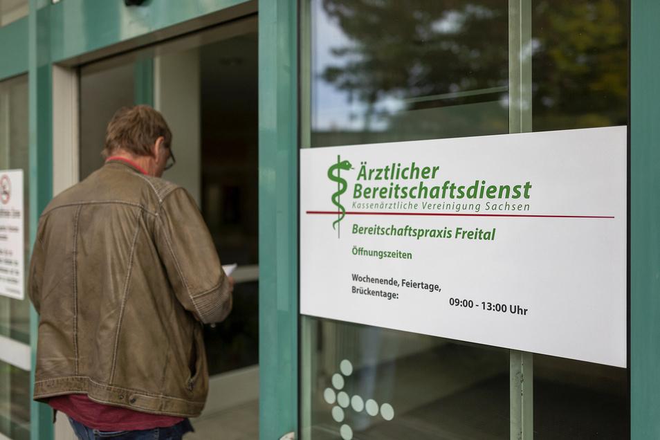 Geöffnet, wenn alle anderen geschlossen haben: Am Krankenhaus in Freital gibt es jetzt eine Bereitschaftspraxis.