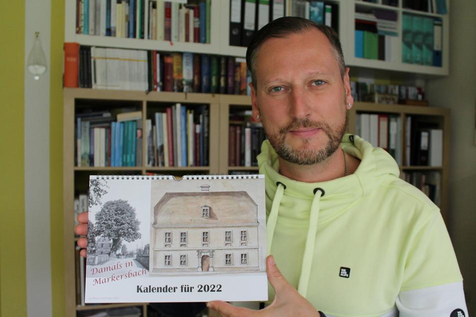 Marco Schröder hat es wieder getan: Zum neunten Mal hat er einen Kalender mit Markersbacher Geschichte gestaltet.