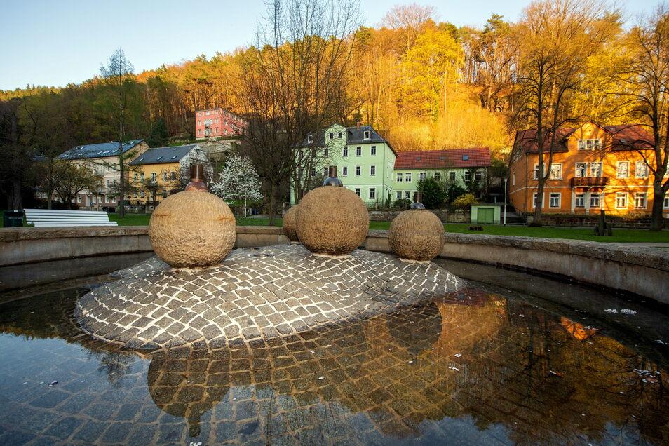 Kurpark Bad Schandau: Ein Wasserkino und Illuminationen sollen ihn an Sommerabenden attraktiver machen.