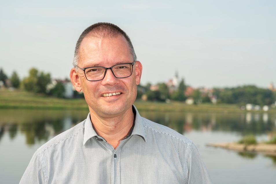 Der neue Landrat Ralf Hänsel macht sich mit den Kommunen des Landkreises Meißen vertraut. Diesmal war er in Glaubitz.