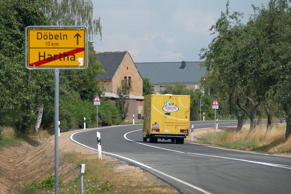 Seit Freitagnachmittag können Autofahrer die B 175 bei Hartha wieder nutzen.