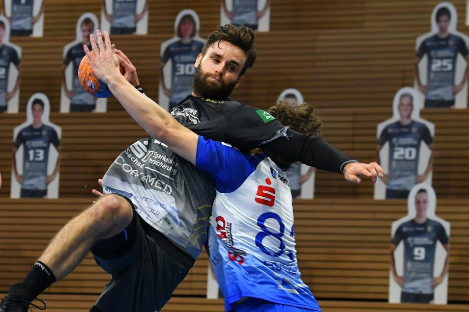 Spielmacher Sebastian Greß fehlte dem HC Elbflorenz verletzt an allen Ecken und Ende.