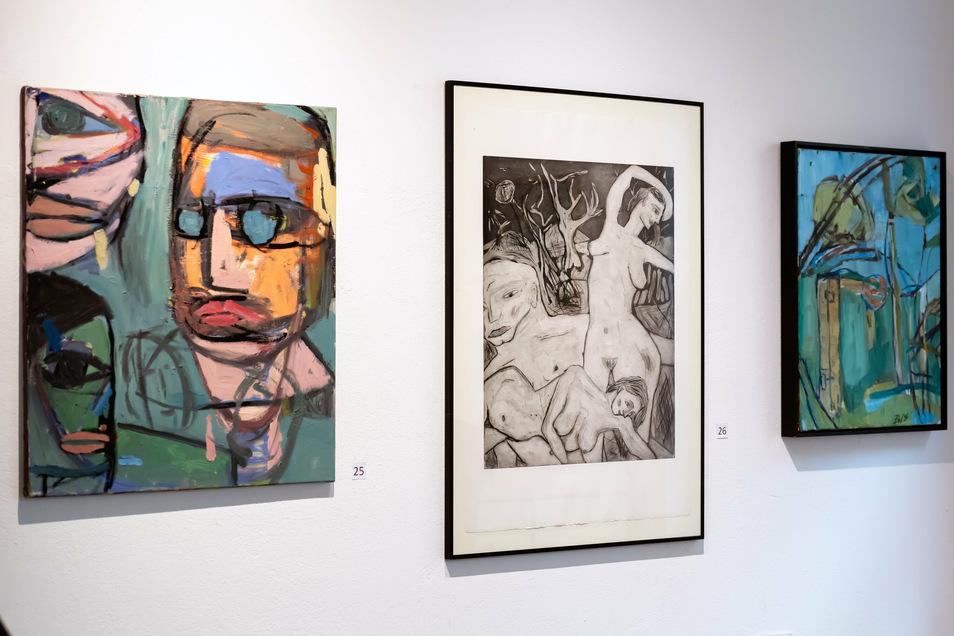 """Sowohl bunte als auch schwarz-weiße Bilder sind unter dem Titel """"Autark II"""" bis zum 6. November in der Galerie Budissin zu sehen."""
